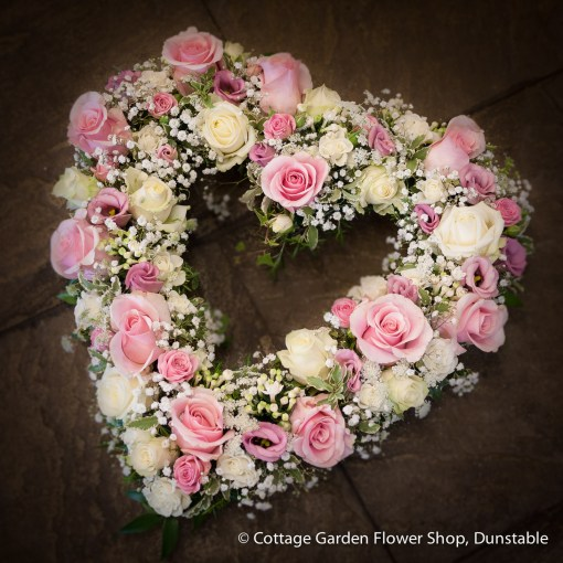 Pink & Cream Rose Heart