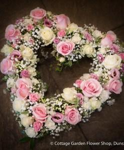 Pink & Cream Rose Heart