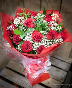 Classic Red Rose Hand Tied
