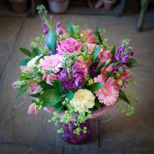 Pink, Cream & Mauve Vase