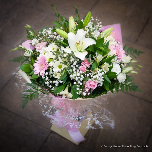 Pink & White Hand Tied