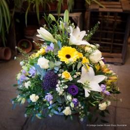 White, Yellow & Purple Arrangement