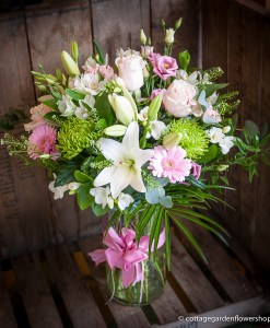 Pink & White Luxury Vase Arrangement