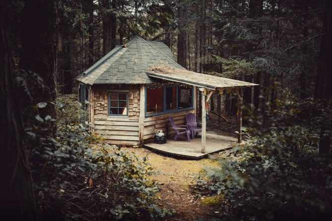 Go Off The Grid At This Galiano Island Cabin Cottage Life