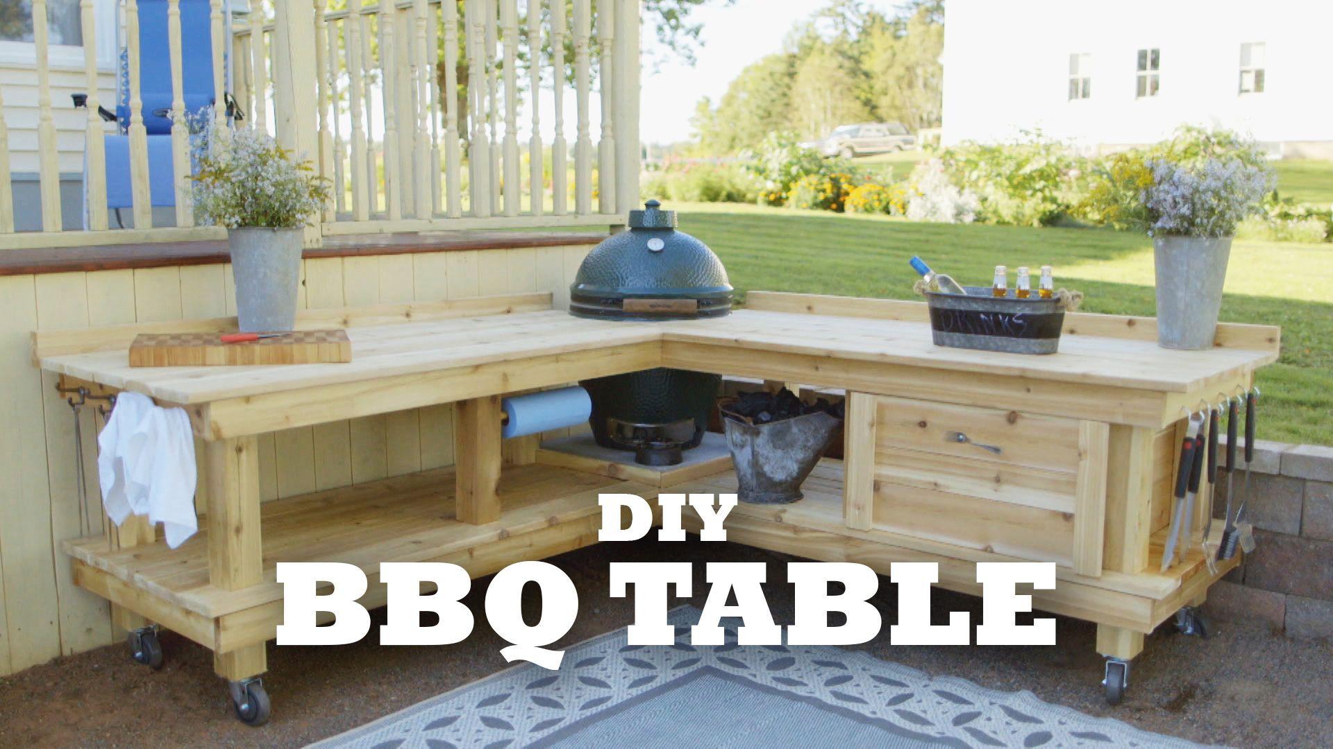 DIY backyard BBQ table   Cottage Life on Diy Bbq Patio id=42825