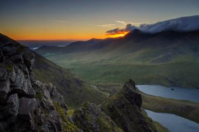 Sun rise from Kerry's stunning mountain range.