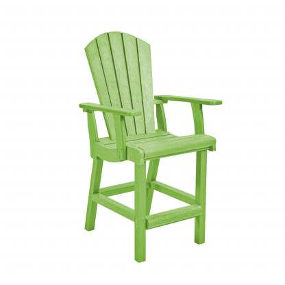Recycled Plastic Classic Counter Arm Chair - Green