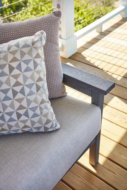 Recycled Plastic Tofino Sofa Cast Silver