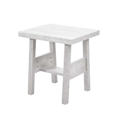 Recycled Plastic Tofino End Table - White