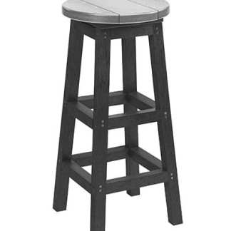 Recycled Plastic Bar Stool - Slate/Light Grey