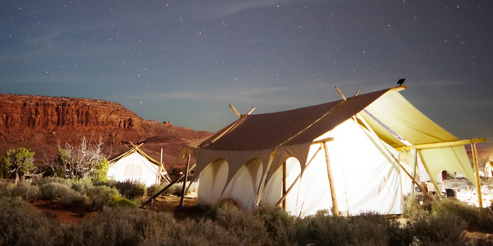 Magical moments happen with tents.