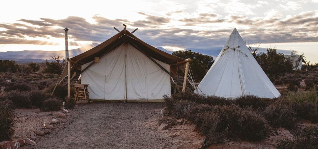 metaphorical tent to create inspirational, living room style atmosphere for great networking