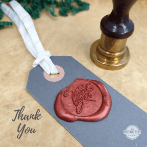 Wax Seal - thank you tag