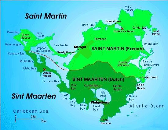 Map of St_Maarten St_Martin