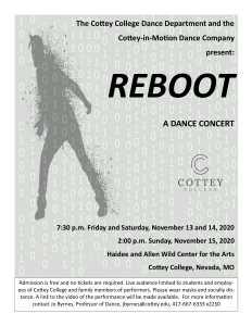 Flyer for Co-Motion Dance Concert November 2020
