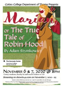 Play cover for Marian or The True Tale of Robin Hood