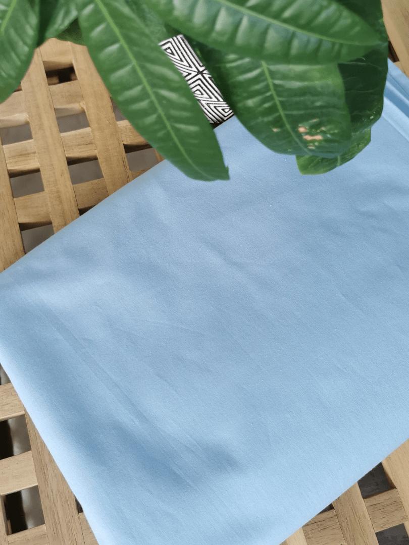 set de pat din bumbac imprimat Calming Blue7