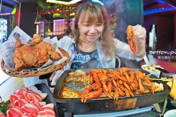 台中麻辣烤魚大升級!水貨烤魚小龍蝦初上市~菜單上這個竟然是炸全雞!