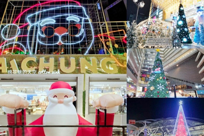 台中聖誕活動懶人包-台中車站、綠川柳川、各大百貨、還有1000位聖誕老公公大集合