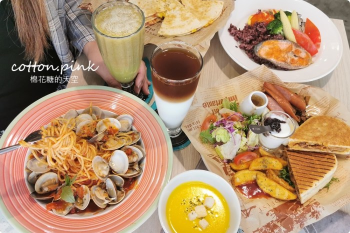 台中早午餐推薦 美術館周邊FUN輕鬆最新菜單供應中!大餐盤真的超大一盤啦~