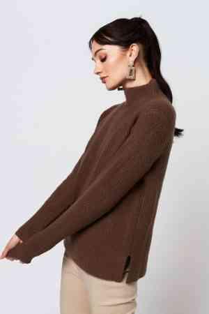 Rut & Circle Marielle knit brown (1) RUT-20-03-21