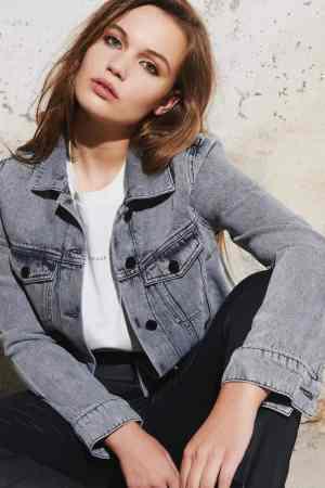 Homage to Denim Denim Jacket H-CF20M01 acid light grey (1)