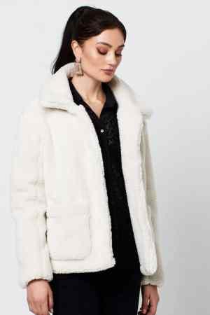 Rut & Circle tea teddy jacket off white (1)