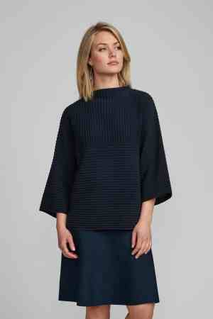 Numph nuirmelin o-neck pullover donkerblauw