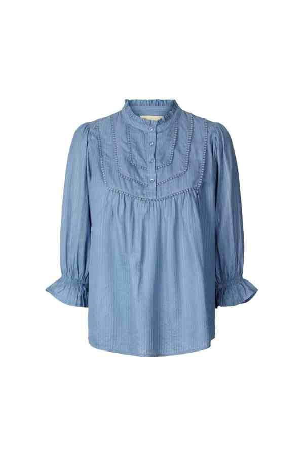 Lollys Laundry Huxi shirt 21105_2006 - 29 Dusty Blue 1