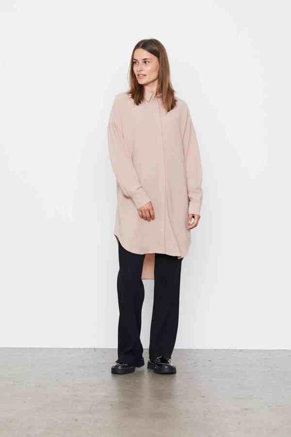 Soft Rebels - Siv long shirt SR521-743(2)