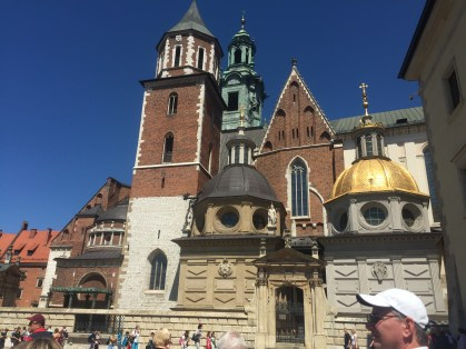 The chapel featuring architecture from various centuries beginning with the 11th on the grounds of the Wawel Castle.