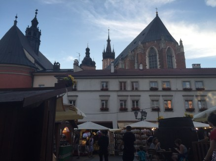 On our last night in Krakow we stopped by a street festival and had kielbasa and dill potatoes!