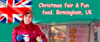 Christmas fair & Fun food. Birmingham, UK
