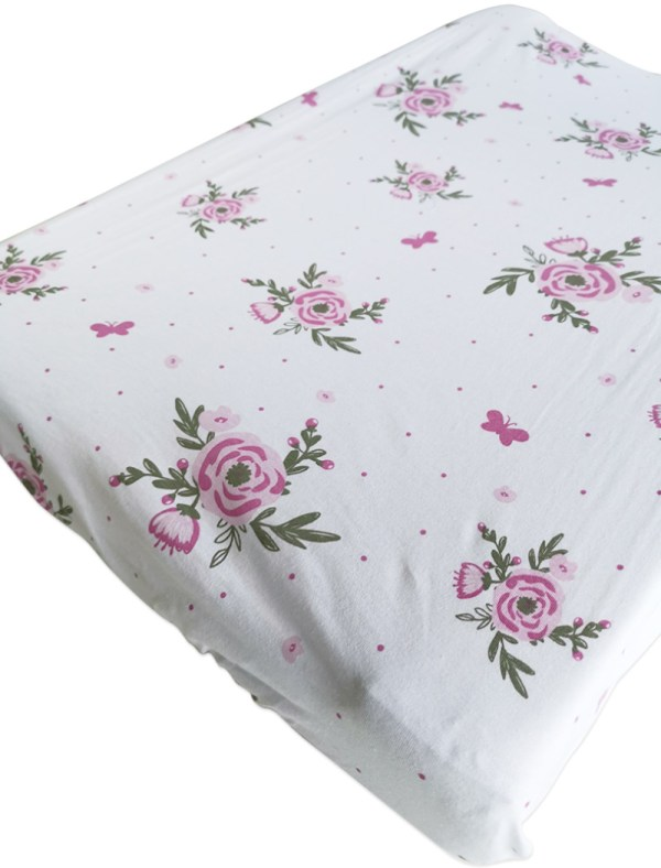 Blooms Butterflies Changing mat cover