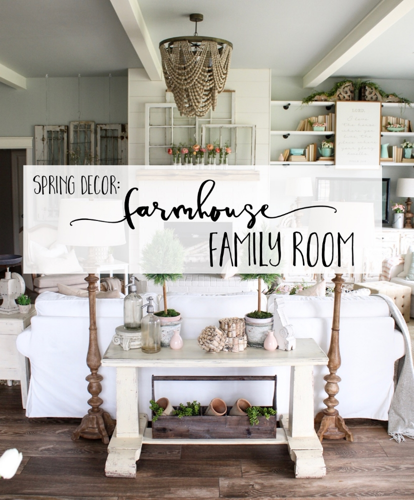 Spring Decor Farmhouse Family Room Cotton Stem