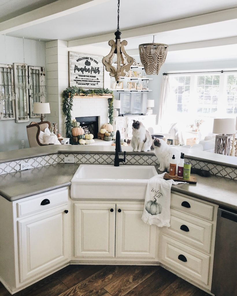 Inexpensive Farmhouse Hacks - DIY Concrete Counters and ... on Farmhouse Countertops  id=28005
