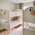 Double Bunk Bed Sister Room Cotton Stem