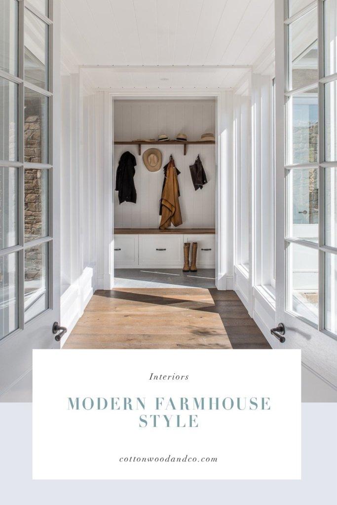 Modern farmhouse style - Cottonwood & Co