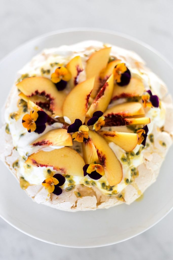 Cottonwood and Co - peach and passionfruit pavlova