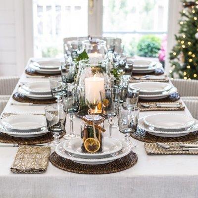 christmas table saffron napkins walter g
