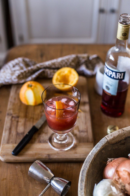 Campari and Orange Cocktail - Cottonwood and Co