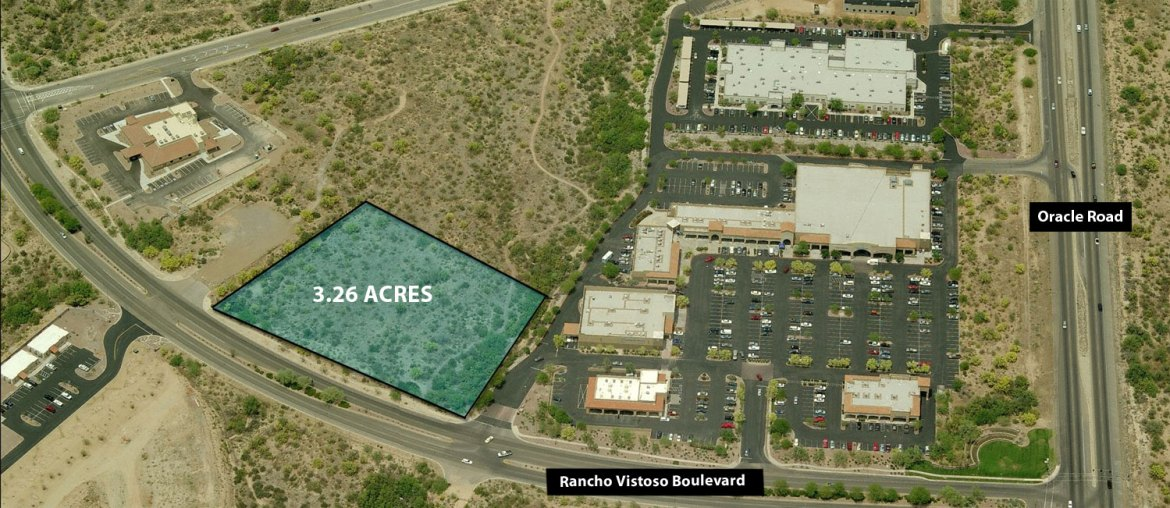3.26 Acres adjacent to Rancho Vistoso Center and Oro Valley Park and Ride Facility.  Great location for restaurant, retail, automotive or office use.