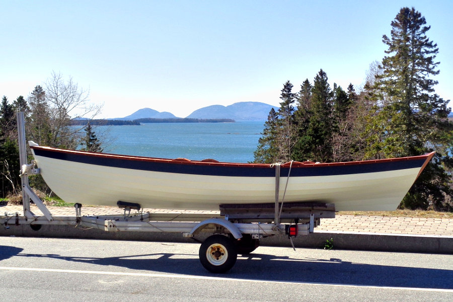 Penobscot Wherry on a trailer
