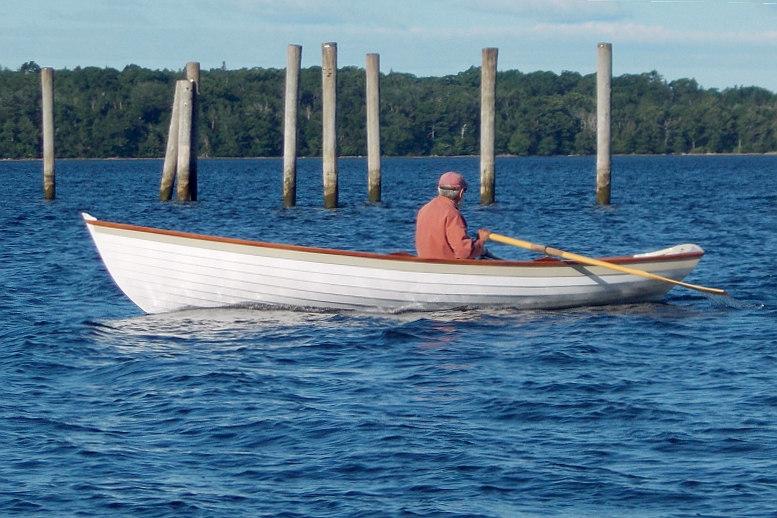 Rowing Penobscot Wherry