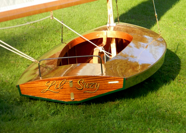 "Custom wooden boats moth class sailboat ""Lil Suzy"" built by Cottrell Boatbuilding"