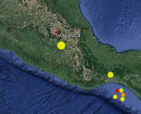 Largest quakes/aftershocks of the past week
