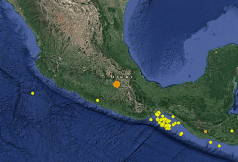 Recent quake and previous aftershocks