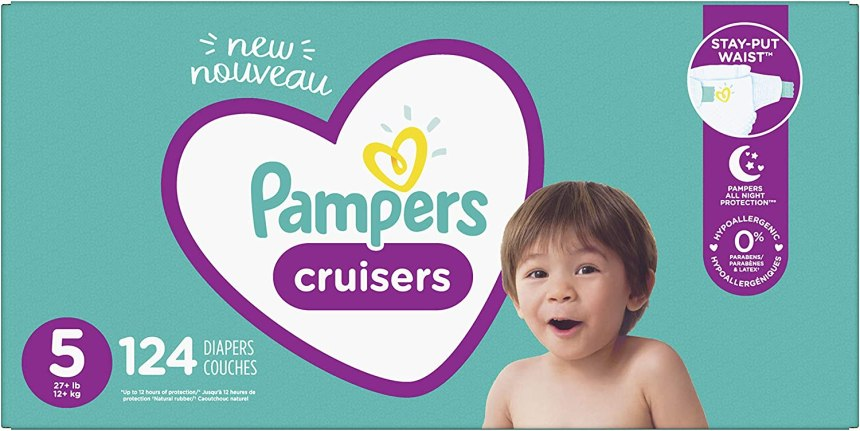 Pampers Cruisers Taille 5 124 couches