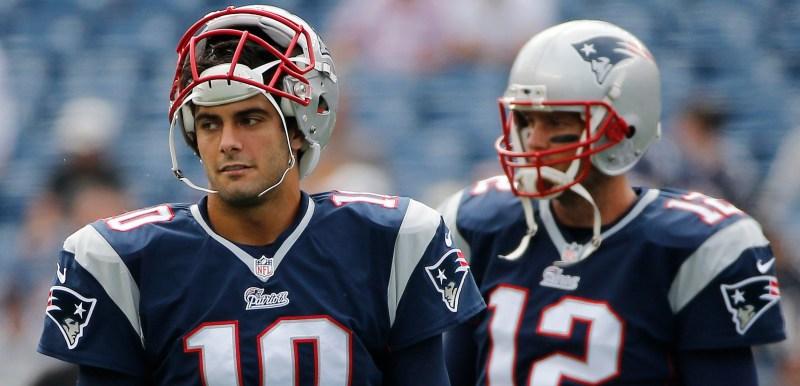 Jimmy Garoppolo, Tom Brady