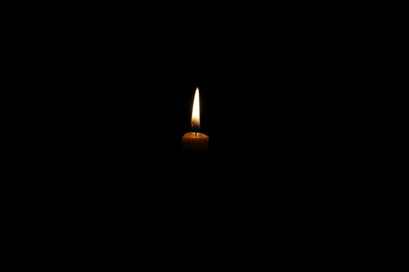 light candle dark flame
